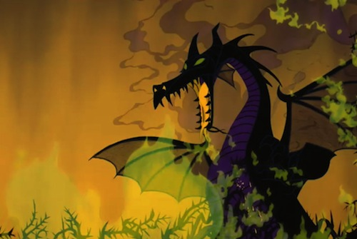 Sleeping Beauty Dragon Transformation
