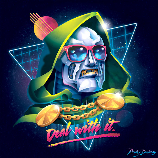 1980s Style Villain Album Cover Art Series by Rocky Davies3