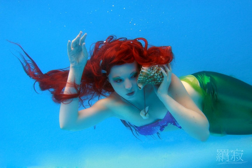 Soffel Cosplay  is Ariel, The Little Mermaid — Photo by  Wanasabi