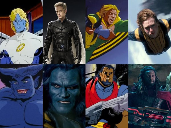 X-Men Movie Characters' Looks Compared to Cartoon Series