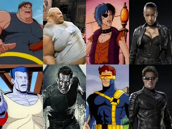 X-Men Movie Characters' Looks Compared to Cartoon Series ...