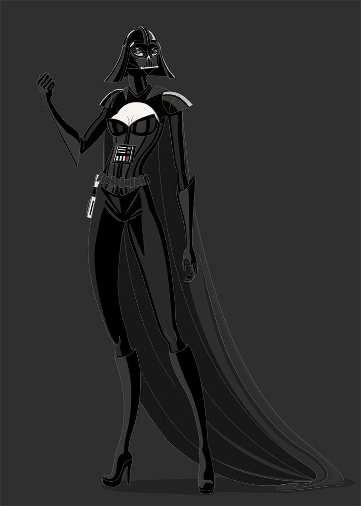 LadyVadercolorpeq 905 jpg Star Wars Characters Art
