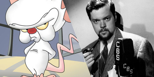 Image result for pinky and the brain orson welles
