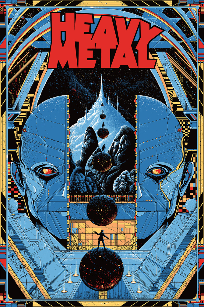 mondo 39 s heavy metal movie poster geektyrant. Black Bedroom Furniture Sets. Home Design Ideas
