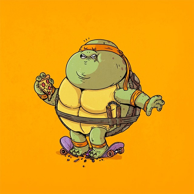 Teenage Mutant Ninja Turtles All Pizza Diet Art Geektyrant