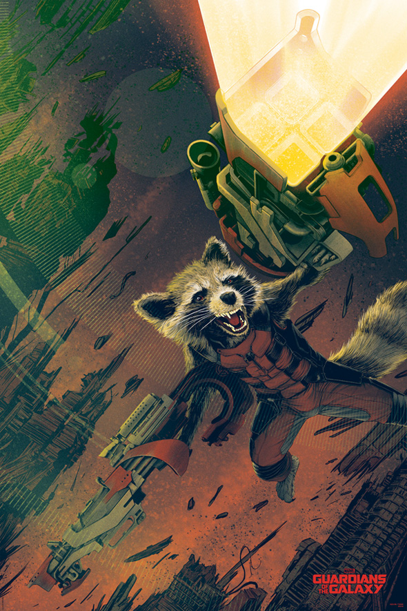 Rocket Raccoon by Kevin Tong