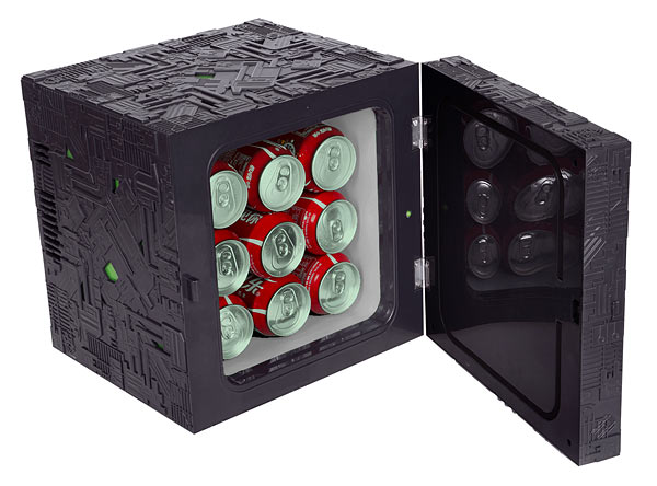 Borg Cube Mini Fridge Will Assimilate Your Soda Geektyrant
