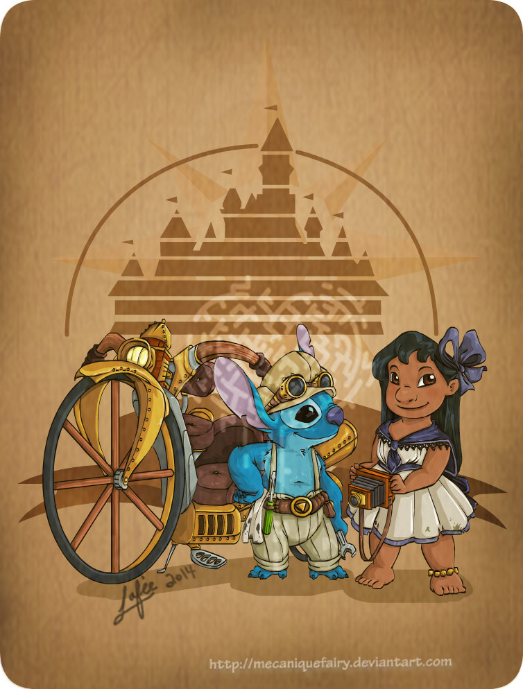disney_steampunk__lilo_and_stitch_by_mecaniquefairy-d7a20qu.png