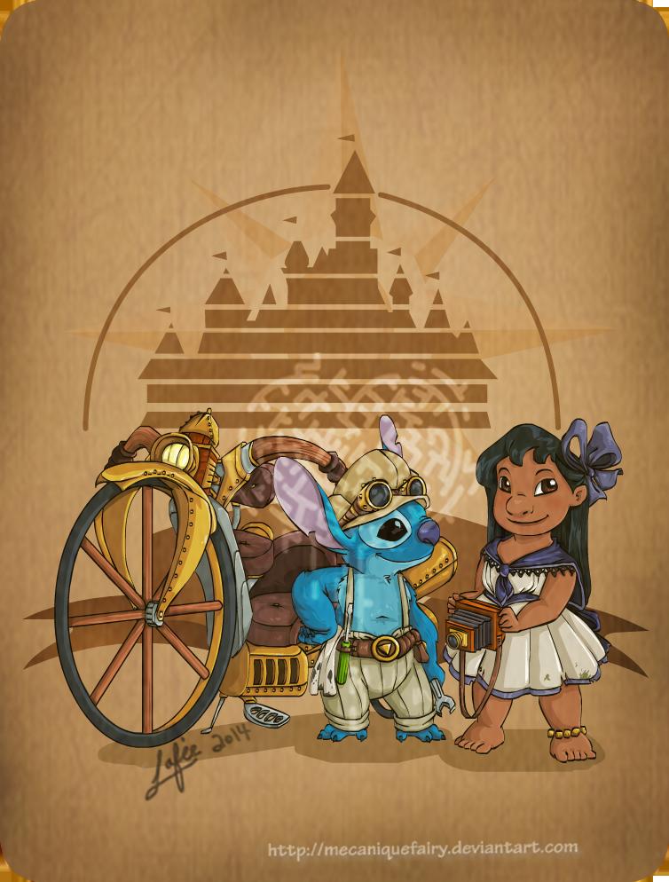 disney_steampunk__lilo_and_stitch_by_mecaniquefairy-d7a20qu.png