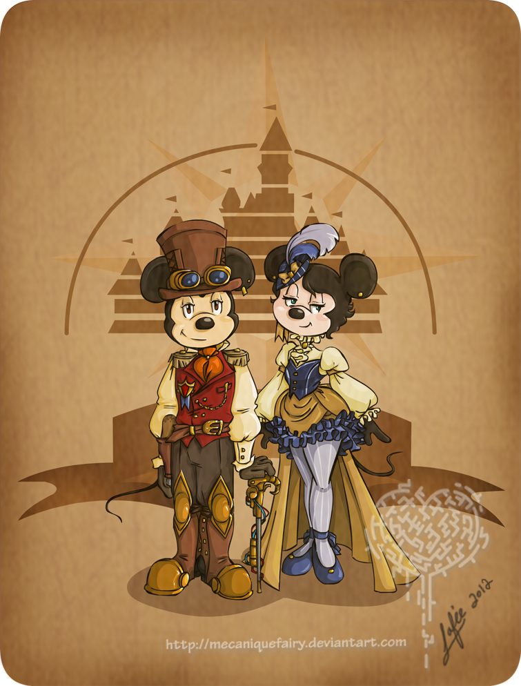 disney_steampunk__mickey_et_minnie_by_mecaniquefairy-d4qti6g.png