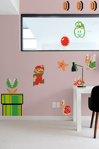 Super mario bros vinyl wall decals geektyrant - Mario wall clings ...