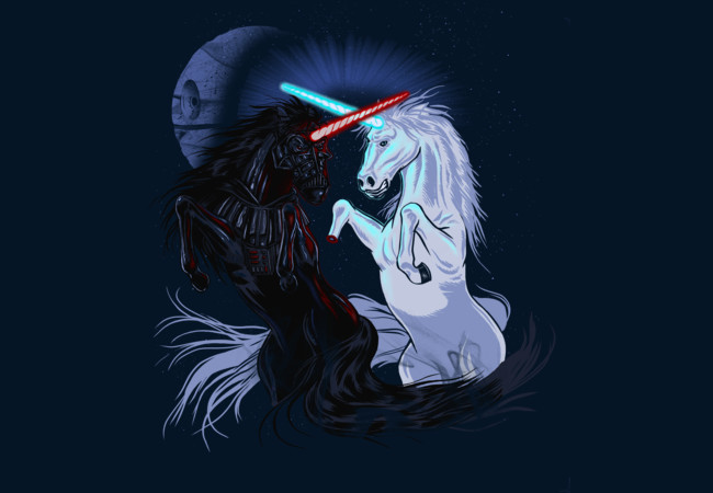 STAR WARS Unicorn Battle - T-Shirt Design