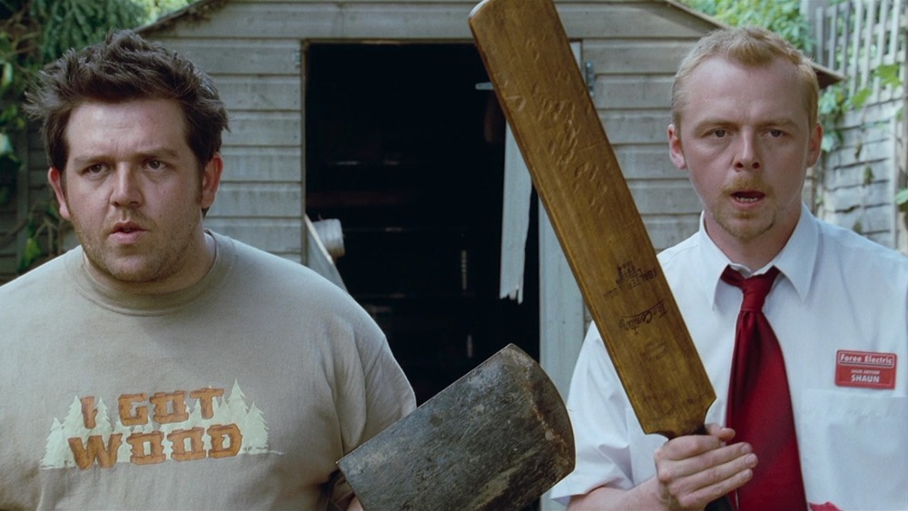 simon pegg and nick frost reprising shaun of the dead