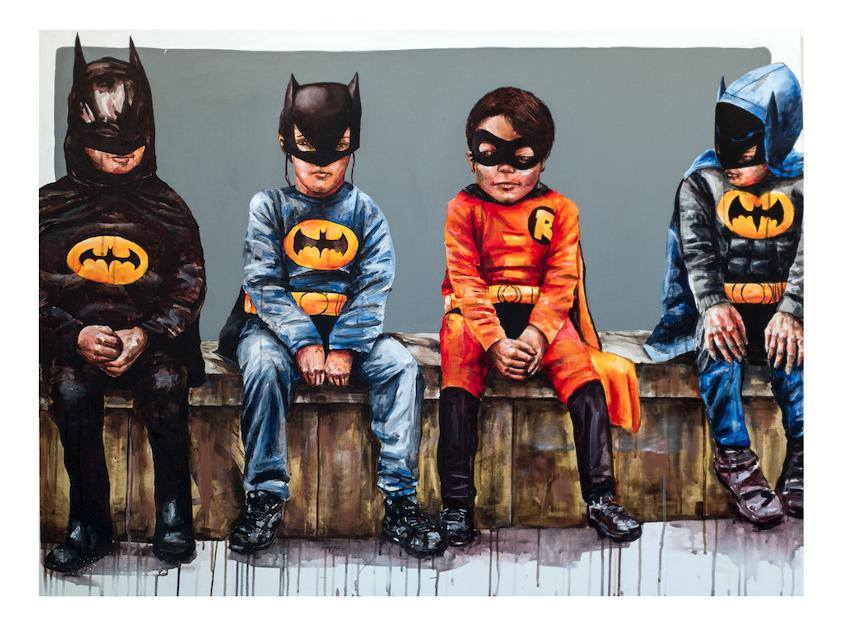 adorable-batman-kid-art-3-bats-and-a-bird