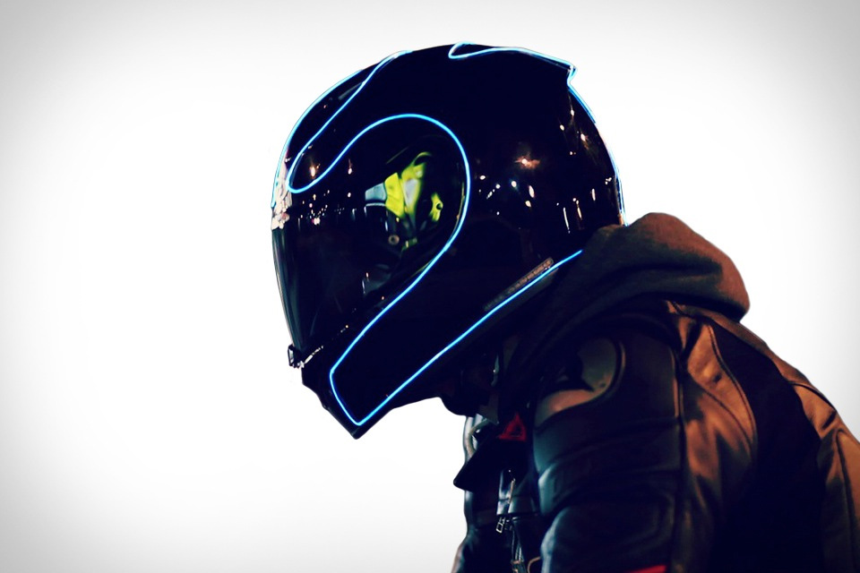 Tron Inspired Lightmode Motorcycle Helmets Geektyrant