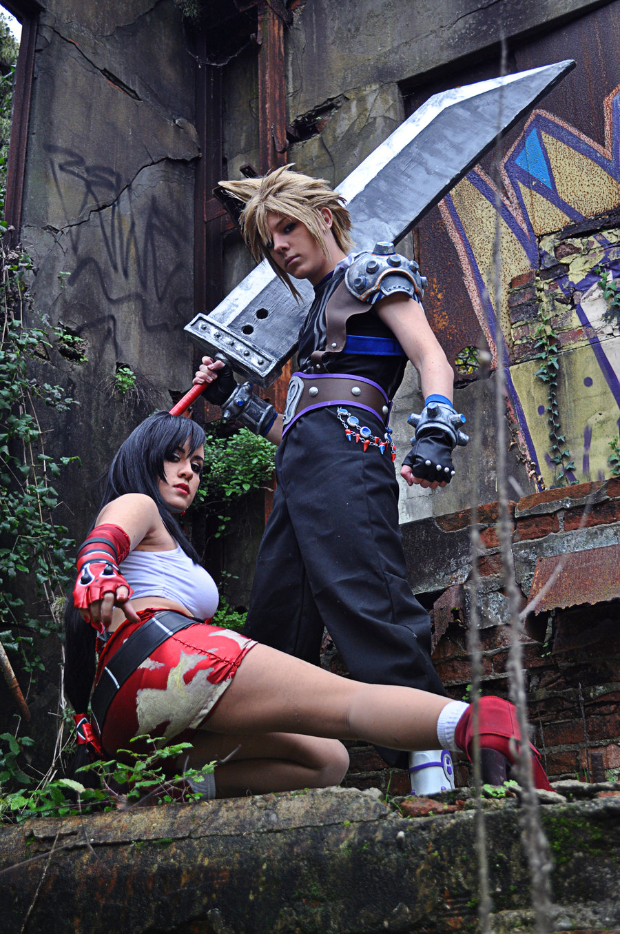 Sascia is Cloud and Ilaria is Tifa | Photo by: Karim Marsili