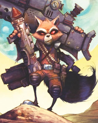 ROCKET RACCOON 3 by Skottie Young