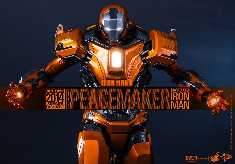 Iron Man Mark 36 Peacemaker Hot Toys IRON MAN 3 Pe...