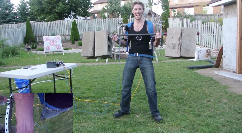 Home Built Elysium Exoskeleton that Works