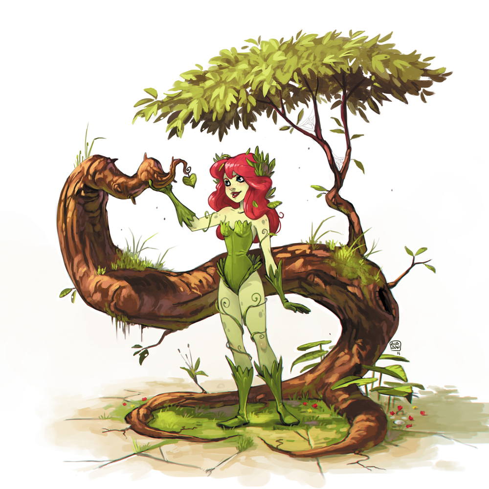 Charming Poison Ivy Art By Fossard Christophe GeekTyrant