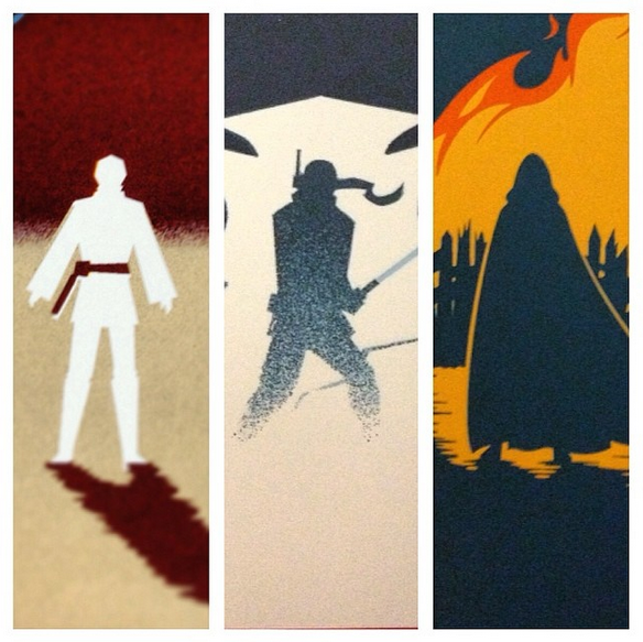 Beautiful STAR WARS Trilogy Poster Art Set by Eric Tan ...