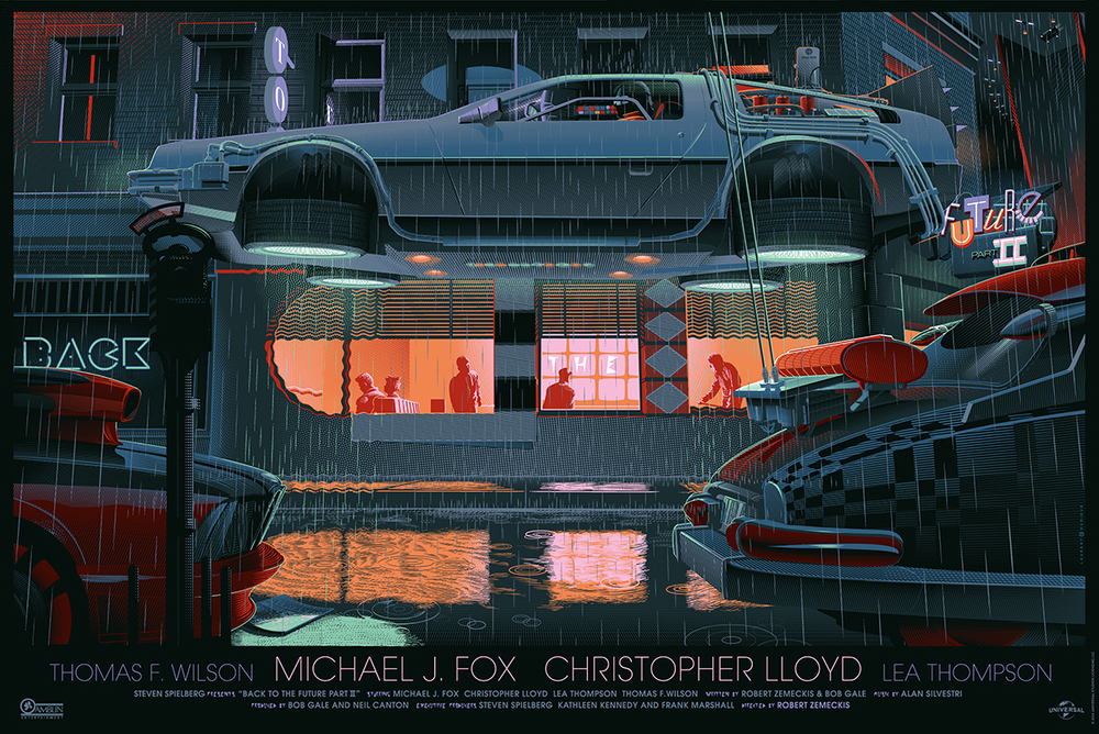 Back to the future trilogy art prints by laurent durieux
