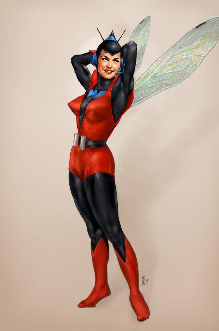 classy female superhero pin up art by stephen langmead geektyrant