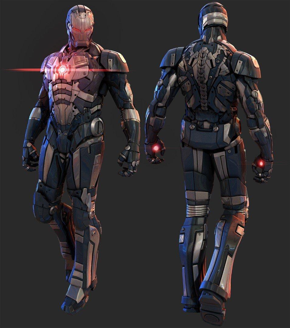Slick Iron Man Armor Designs By Mars Geektyrant