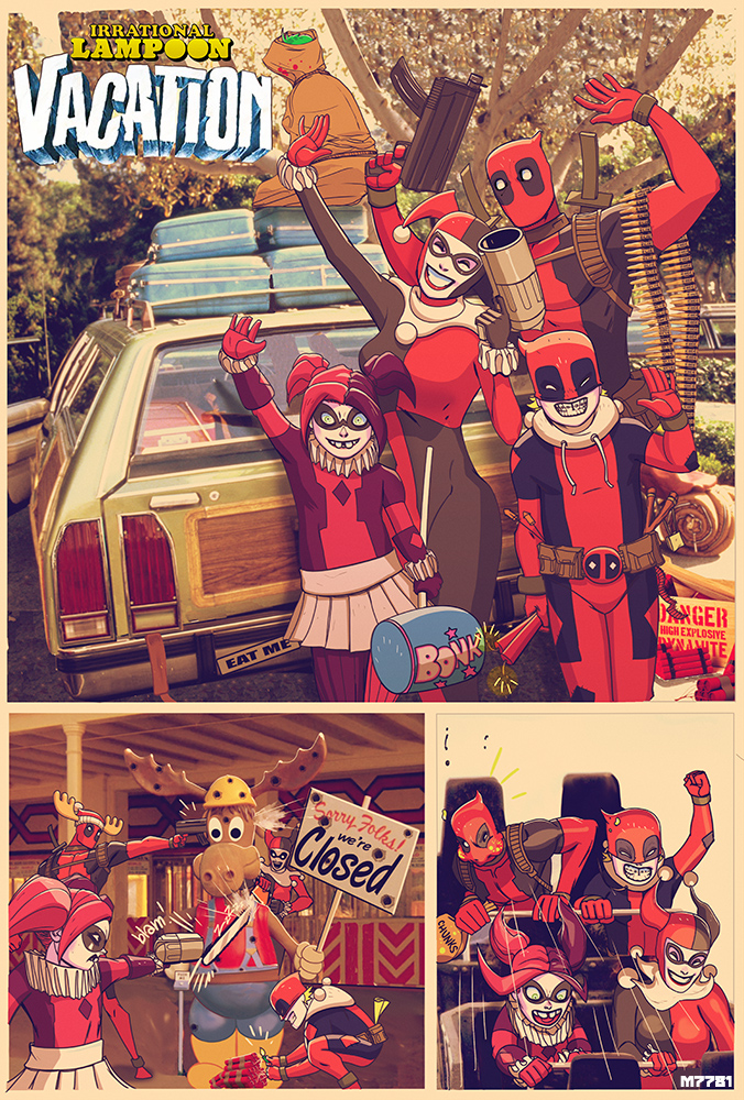 deadpool-family-in-irrational-lampoon-vacation-art