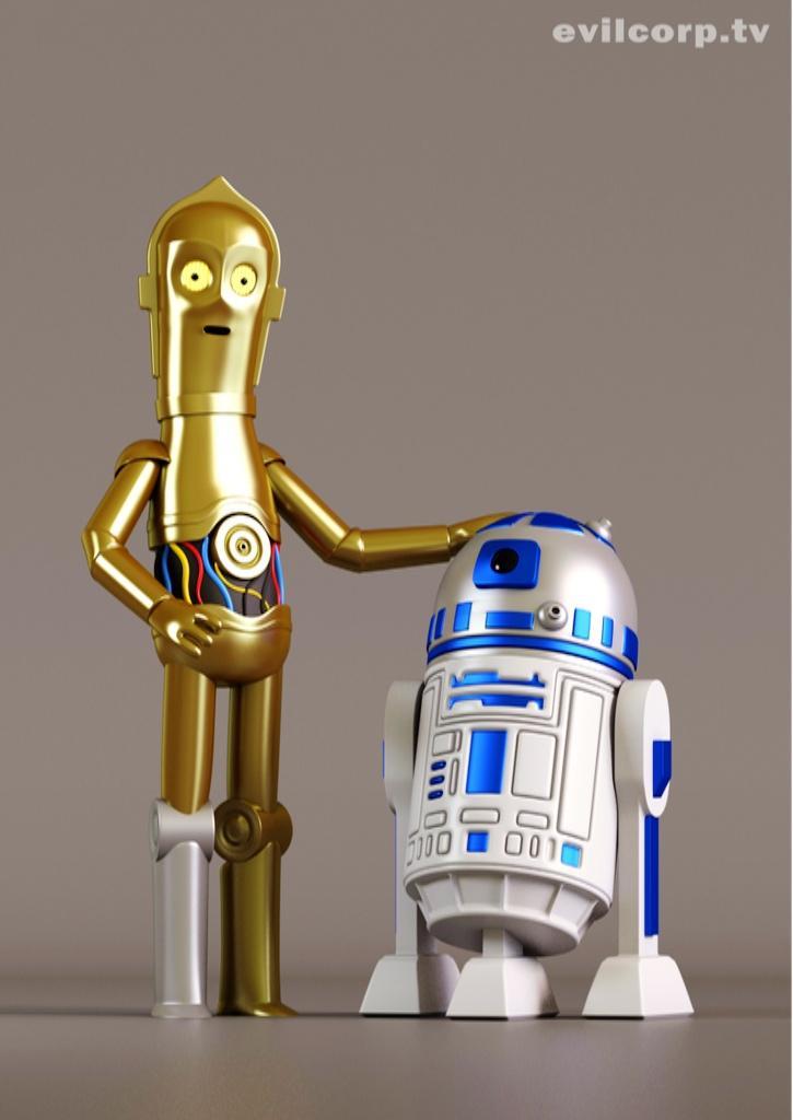 Collection Of Star Wars Digital Vinyl Caricature Figures