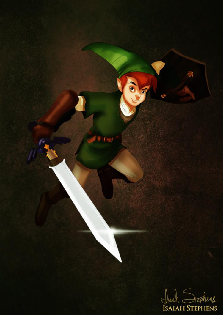 Peter Pan as Link
