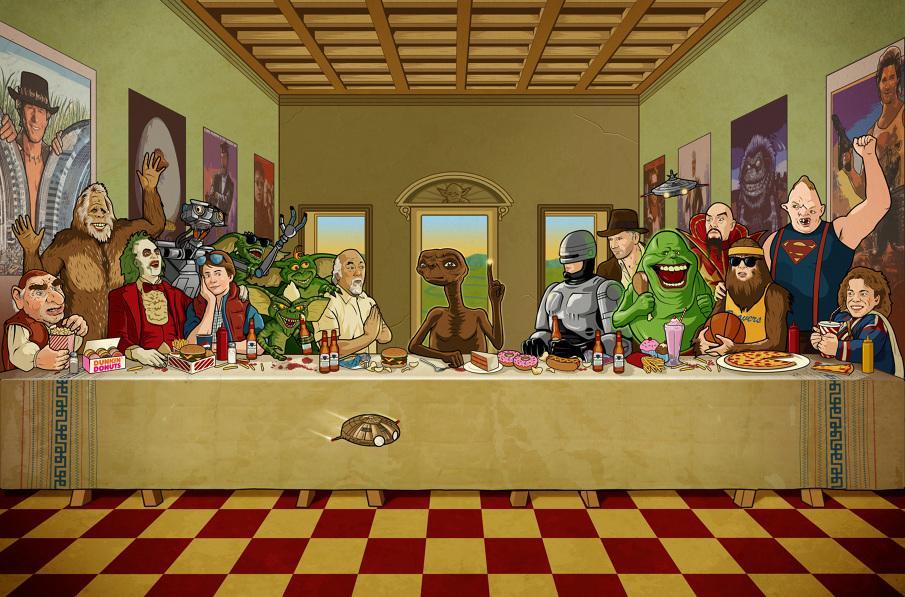 1980s Geek Culture Art The 80 S Last Supper Geektyrant