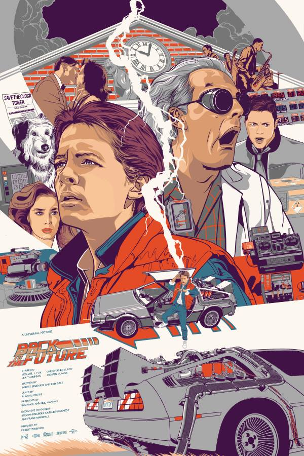 Back To The Future Tribute Art By Vincent