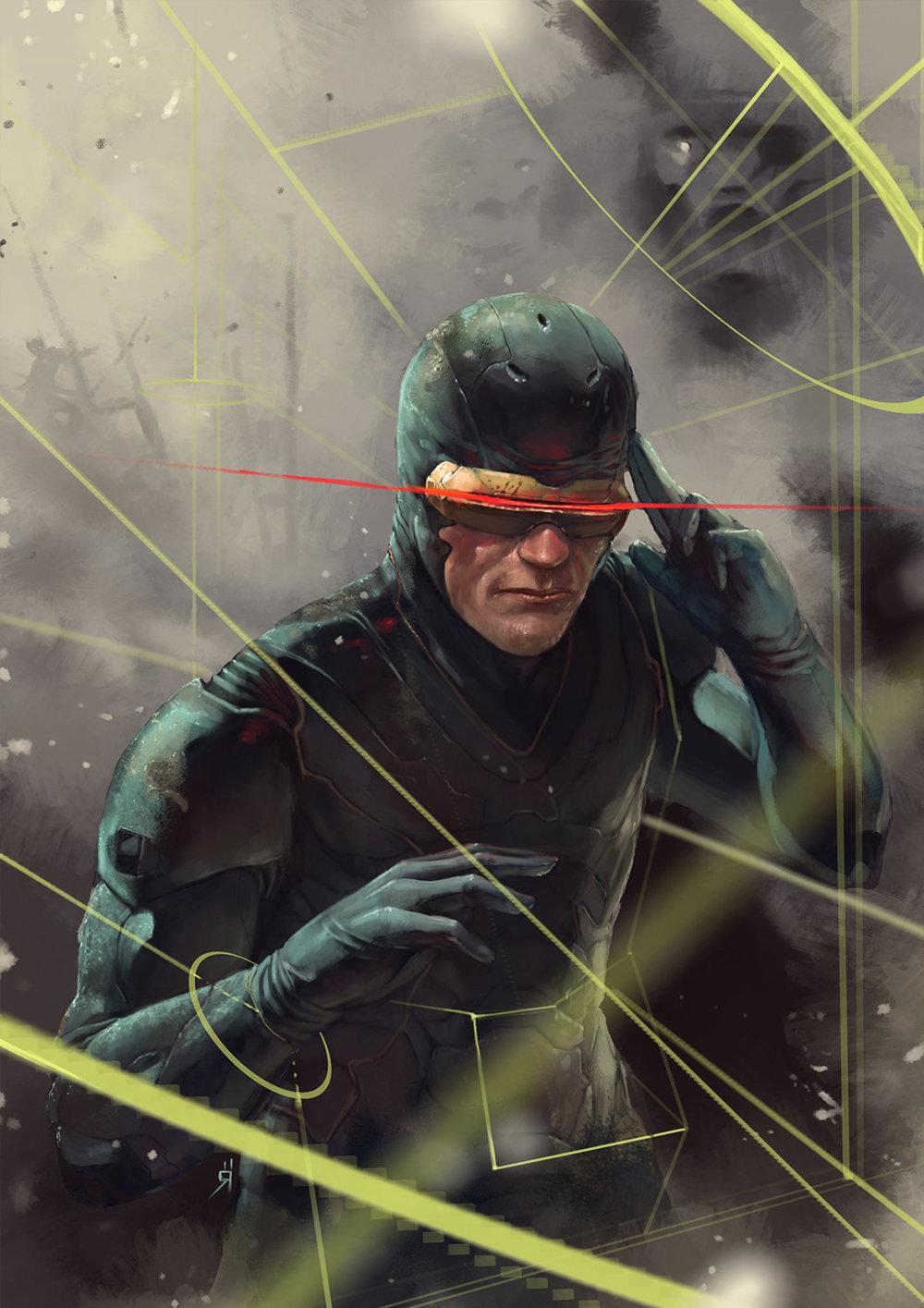 X-Men Art by Oscar R&#...