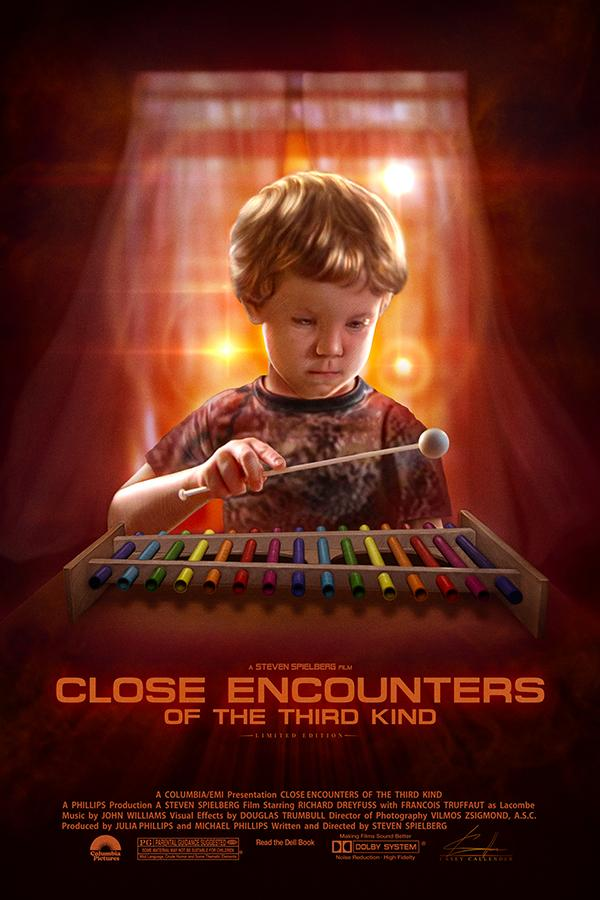 CLOSE ENCOUNTERS OF THE THIRD KIND Poster Art By Casey ...
