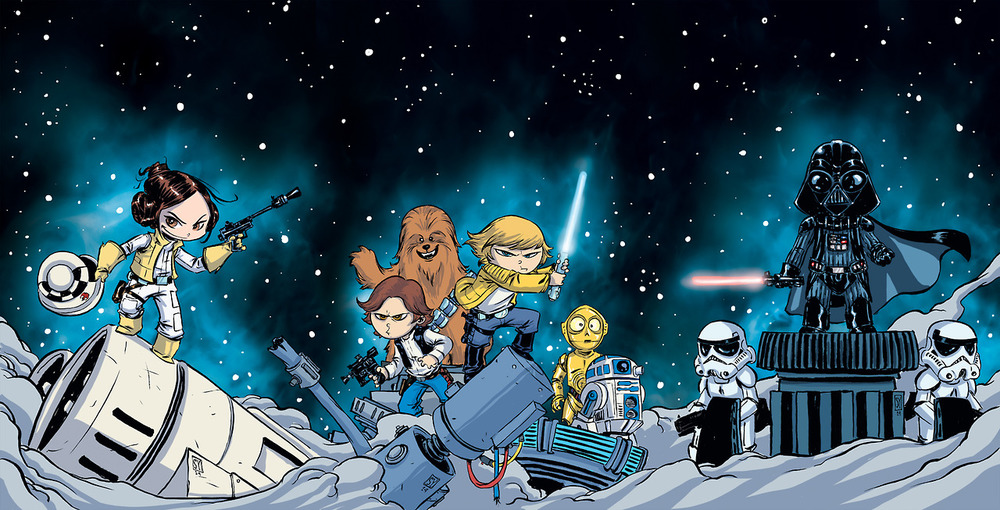 Star Wars Book Cover Art : Delightful star wars comic book cover art by skottie young