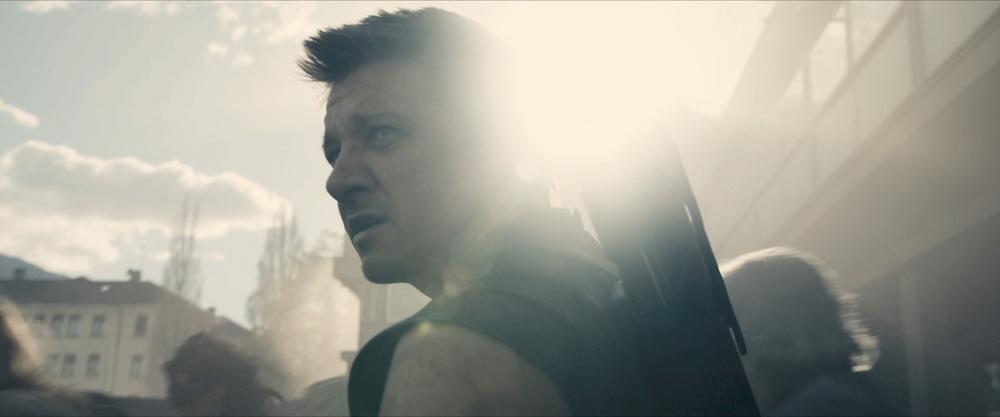 Hawkeye enjoying a nice lens flare.