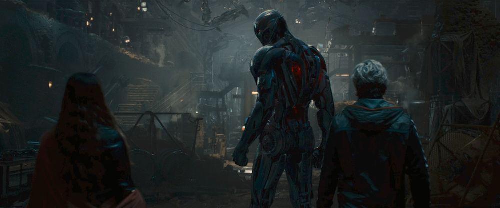 Scarlet Witch, Q  uicksilver, and the upgraded 8 foot tall Ultron.