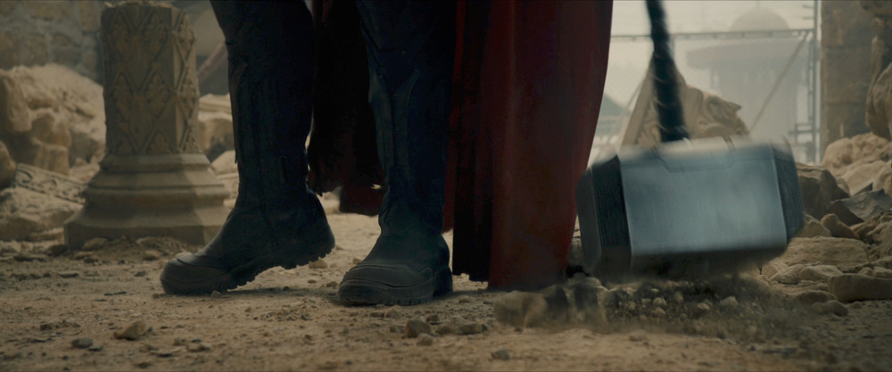 What could make Thor drop his hammer? Hostages?