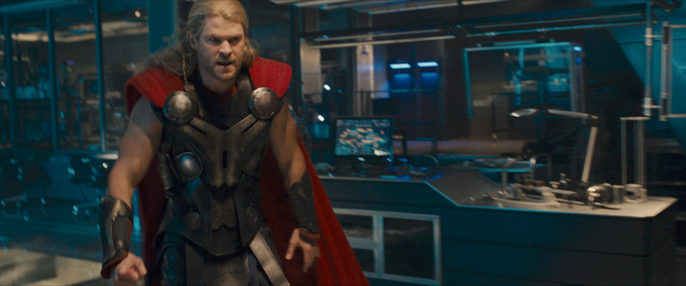 Thor looking very angry.
