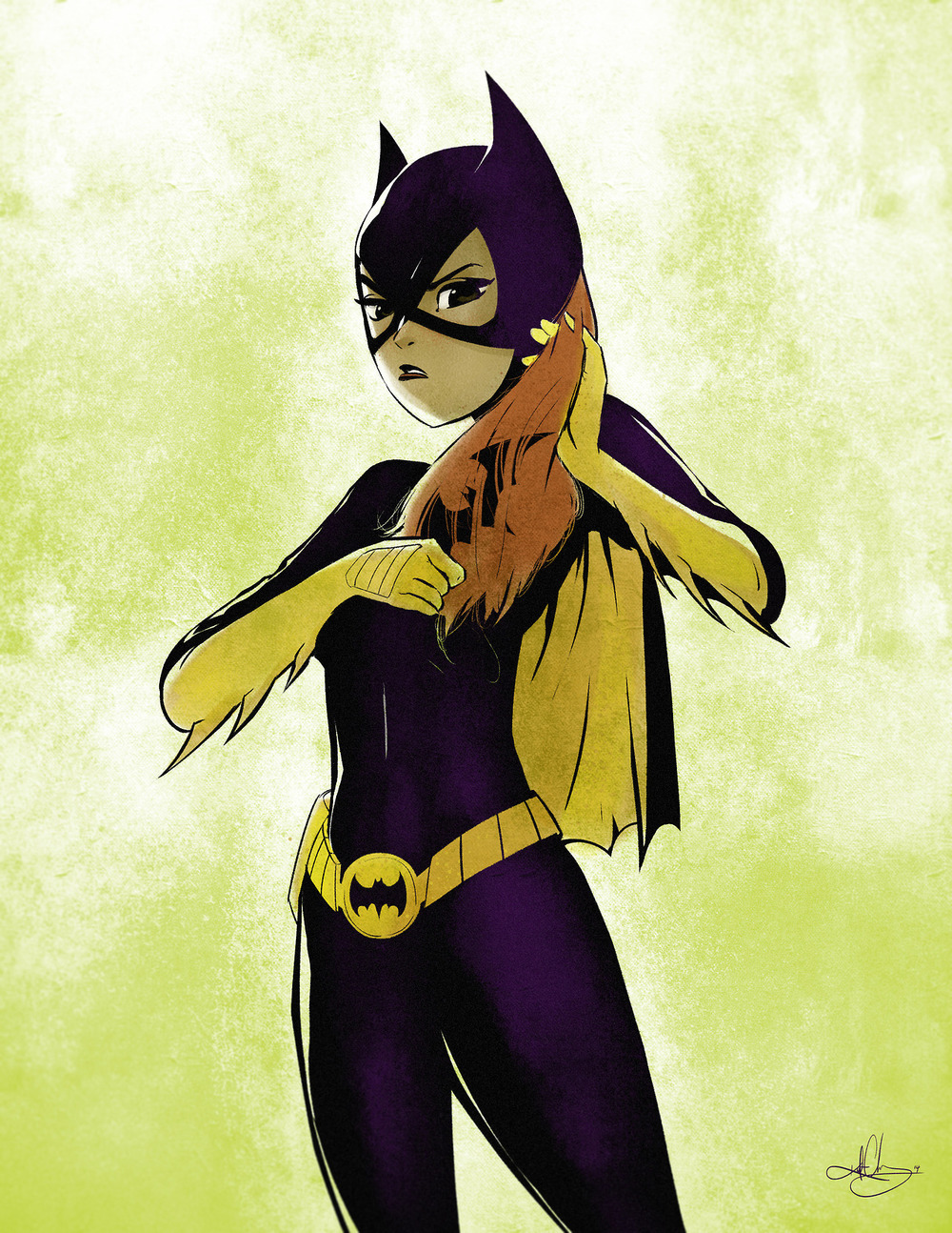Batgirl Puts Her Batbrush To Good Use In Fan Art Geektyrant