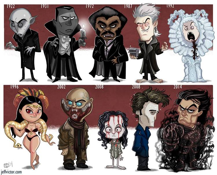 cartoon-style-evolution-of-movie-vampires-by-jeff-victor
