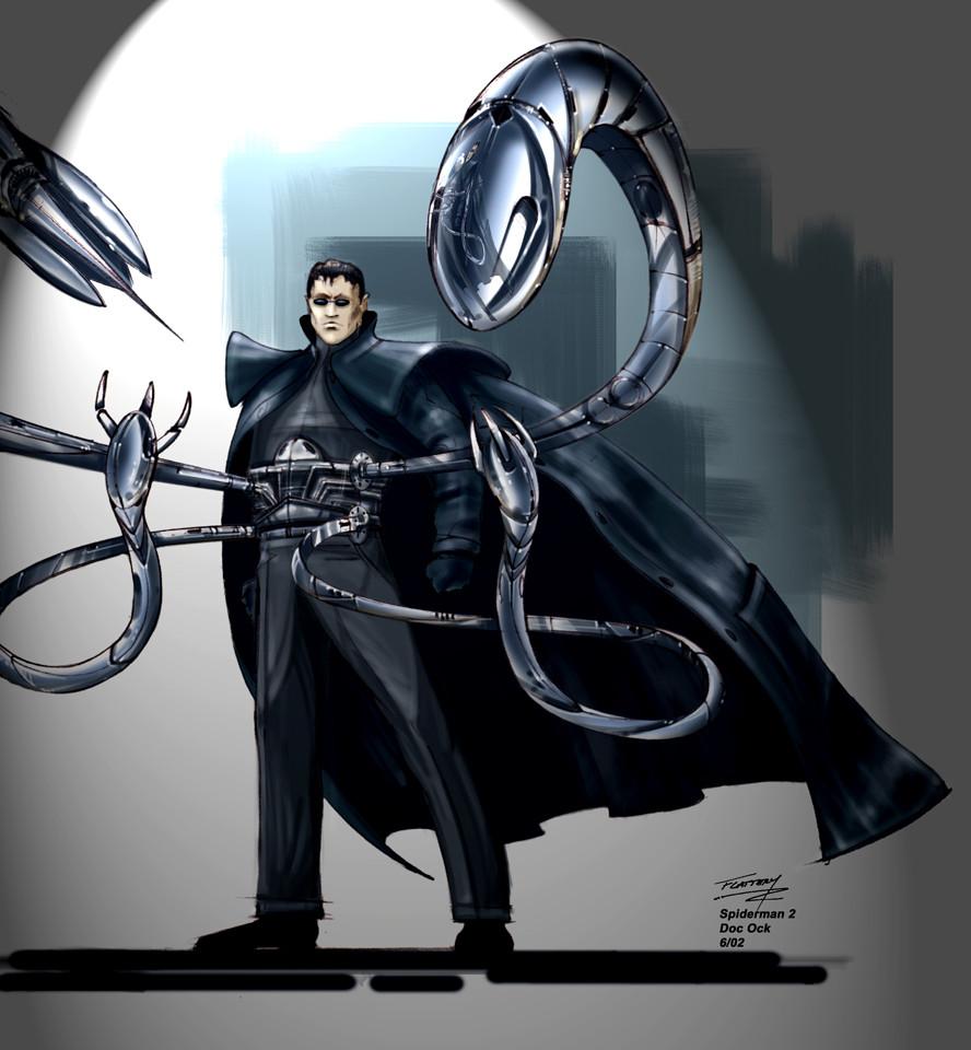 doctor octopus concept art from sam raimis spiderman 2