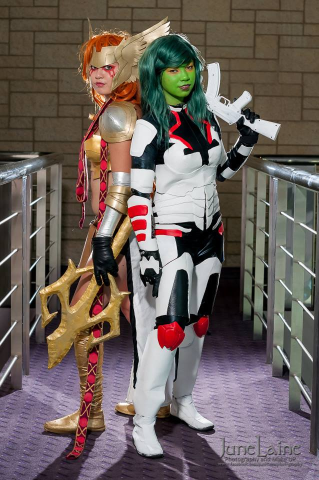 Ilala Cosplay  is Gamora and Angela | Photo by:  June Laine Photography