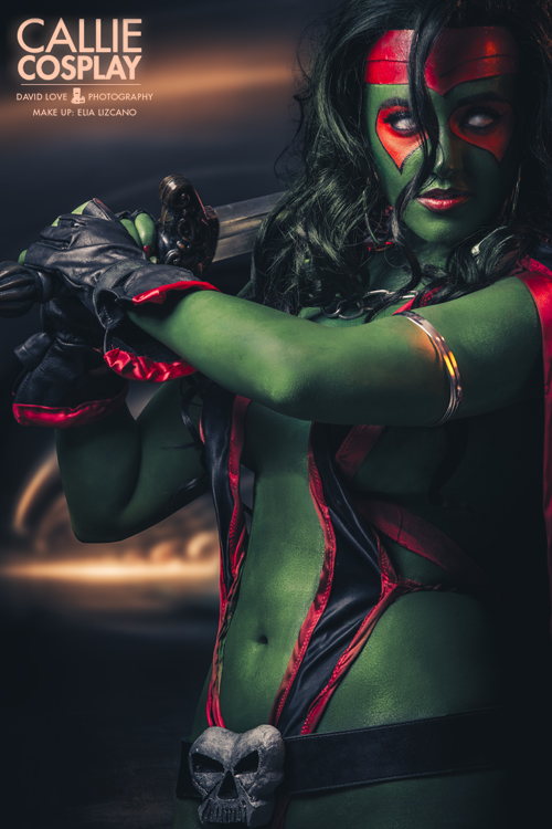 Callie Cosplay  is Gamora | Photo by:  David Love Photography   | Make up by:   Elia Lizcano