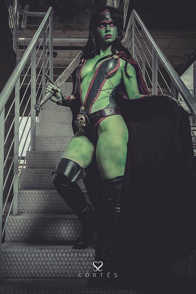 Florencia Sofen  is Gamora | Photo by:  Fernando Cortés