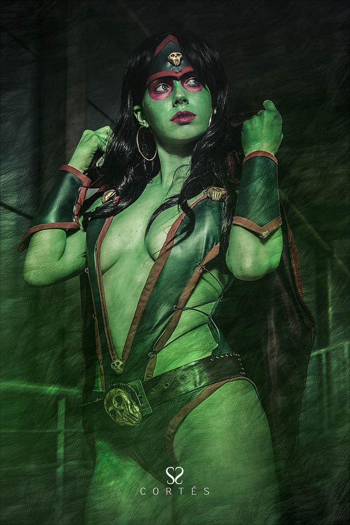 Florencia Sofen is Gamora | Photo by:Fernando Cortés
