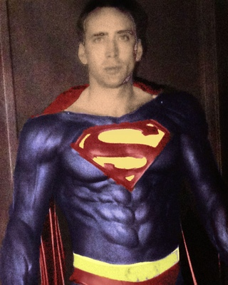 nicolas cage s superman suit from superman lives put on public
