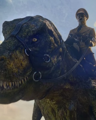 adolf hitler rides a trex in iron sky the coming race