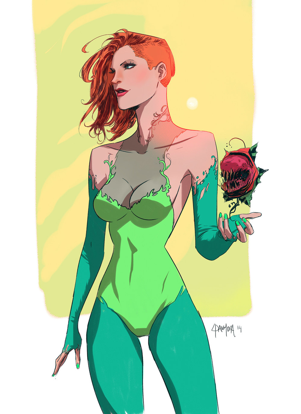 beautiful-poison-ivy-villain-art-by-dan-mora